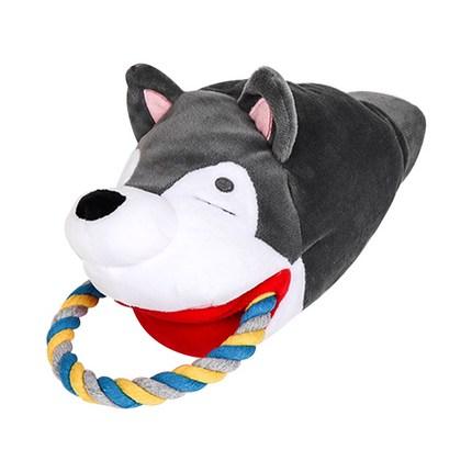 딩동펫 반려동물 터그장난감 시바 12 x 18 x 24 cm, 그레이, 1개