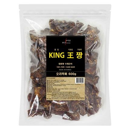 펫츠몬 킹왕짱 강아지 대용량 수제 간식 600g, 오리목뼈, 1개