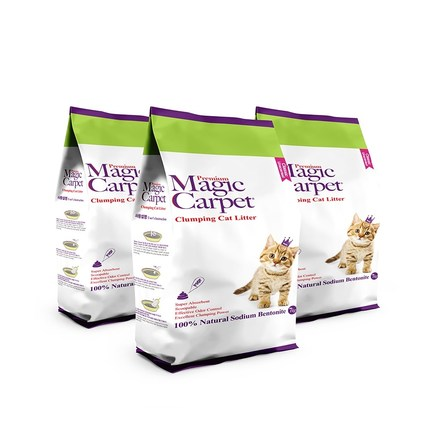 매직카펫 고양이모래 중간입자 무향, 7kg, 3개