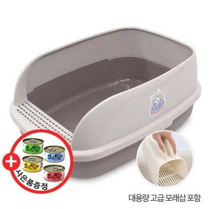 그린펫 고양이대형화장실 캣아이디어 빅브레드 평판 화장실(CL211) XL 배변용품, 록
