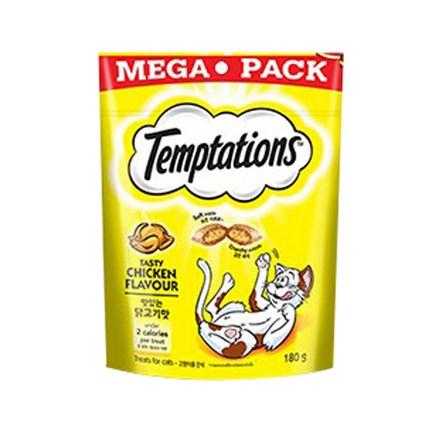 템테이션 메가팩 대용량 고양이간식 180g, 1개, 닭고기맛 180g