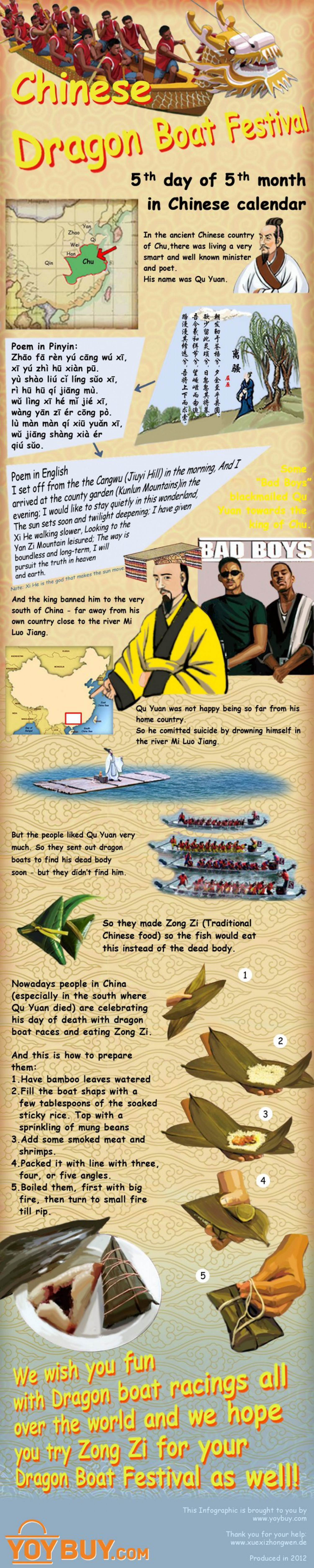 Chinese Dragon Boat Festival Infographic