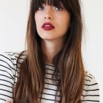 Fun And Flattering Long Hairstyles With Bangs Visual Ly