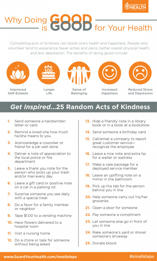 Why Doing Good Is Good for Your Health
