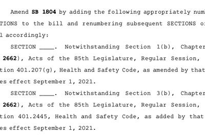 The amendment.