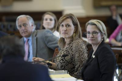 Republican state Sen. Konni Burton (center) was a key figure in 2017 efforts to reform civil asset forfeiture law in Texas.