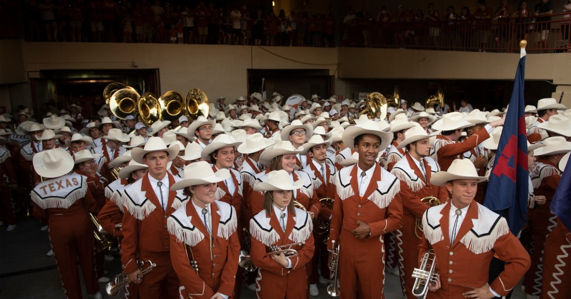 "UT-Austin's Longhorn Band will be forced to play ""The Eyes of Texas"" song that's become a source of fierce division"