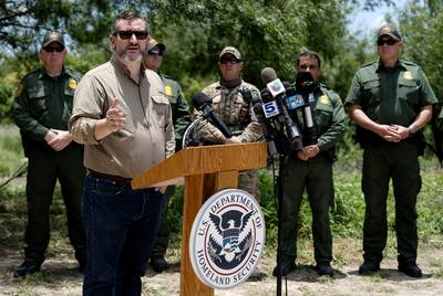 Sen. Ted Cruz spoke Monday during the annual Border Safety Initiative Conference near Mission.
