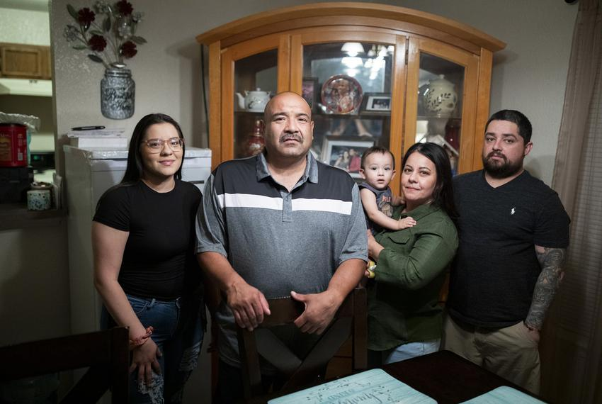 Navy Veteran Frank De La Cruz at his new home on Sept. 17, 2020, in El Paso. De La Cruz was deported to Mexico after being...