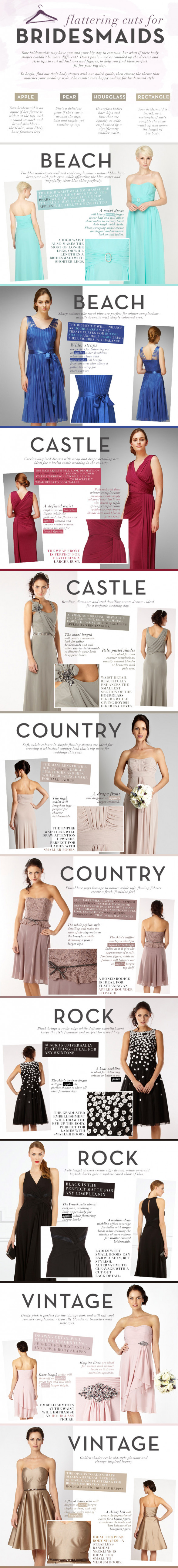 Flattering cuts for Bridesmaids