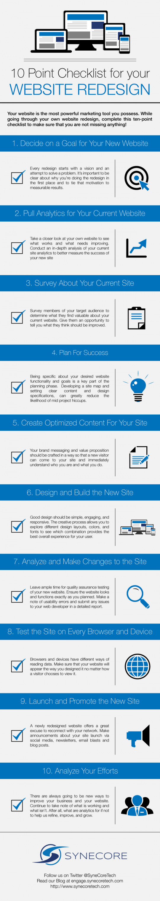 10 Point Checklist for Your Website Redesign