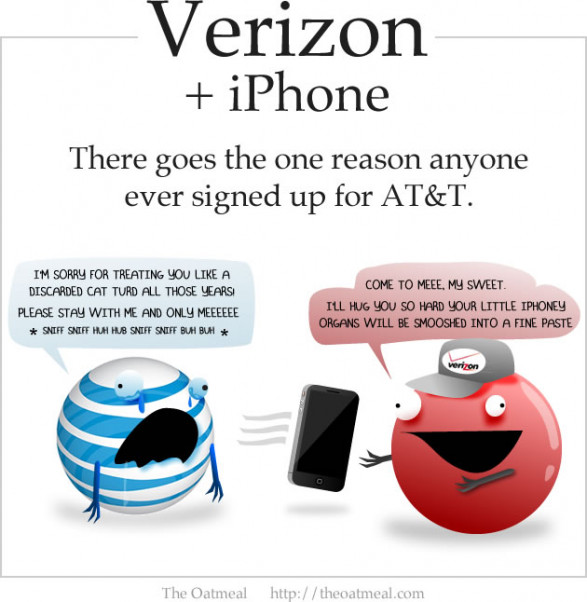 Verizon iPhone: There Goes the Only Reason to Sign Up for AT&T