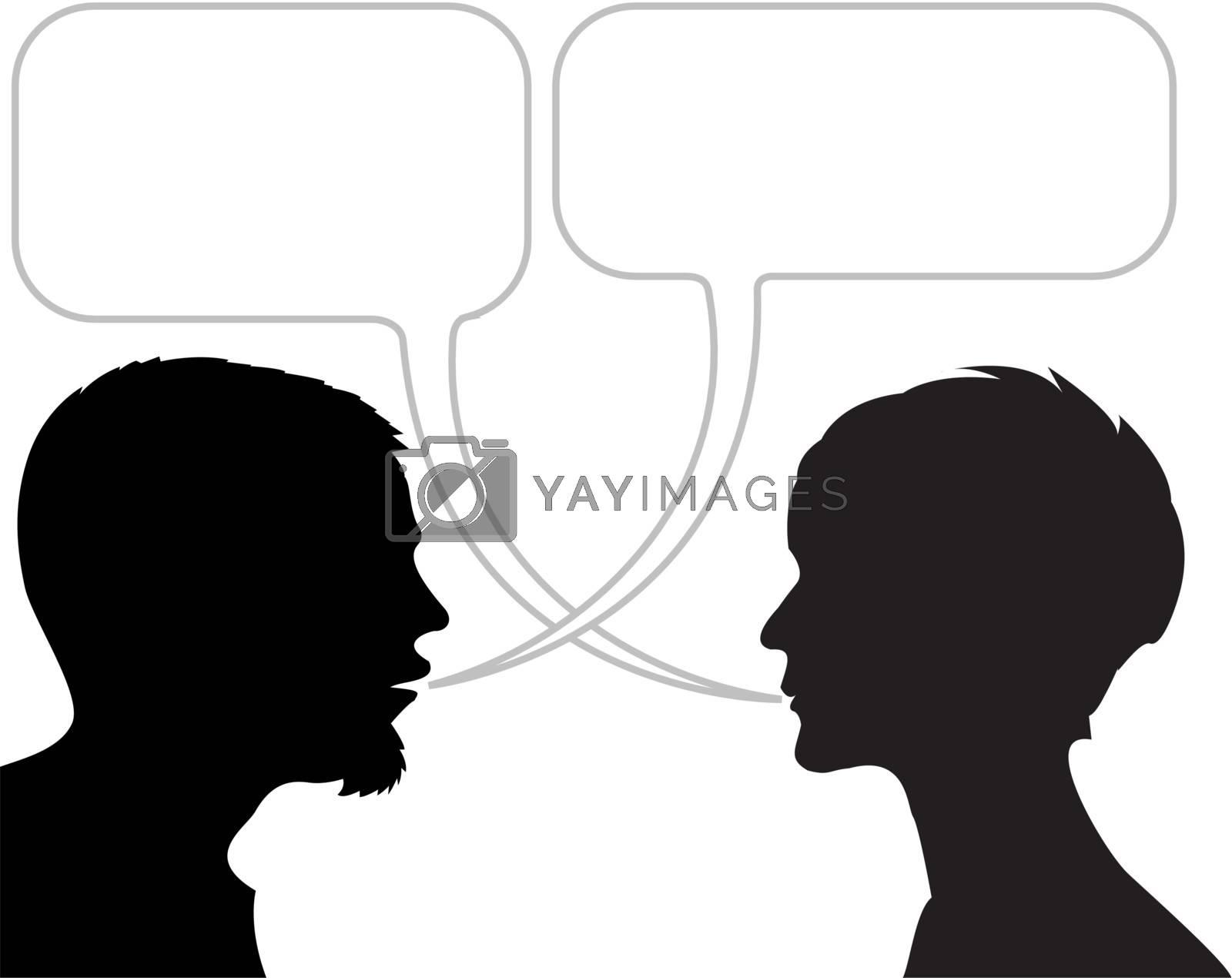Dialogue Comic Strip Royalty Free Stock Image