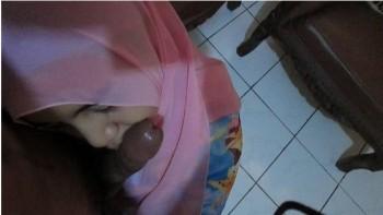 Ngentot Binor jilbab pink nyepong