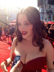 Kat Dennings Hot Pic From The Emmy Awards In Los Angeles On September 23