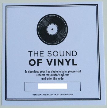 Get Right 7inch - the sound of vinyl download card