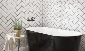tile grout coloured white grey
