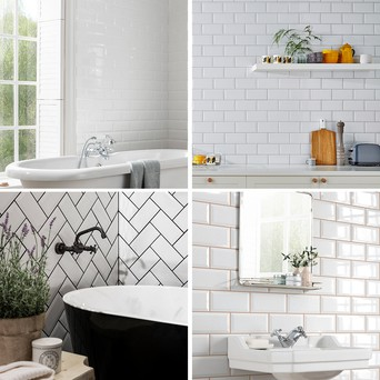 use grout colour to complement tiling