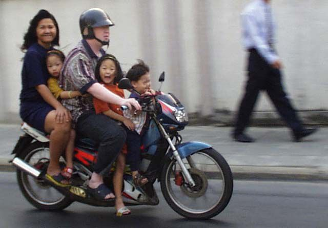 Riding Motorcycles With Child