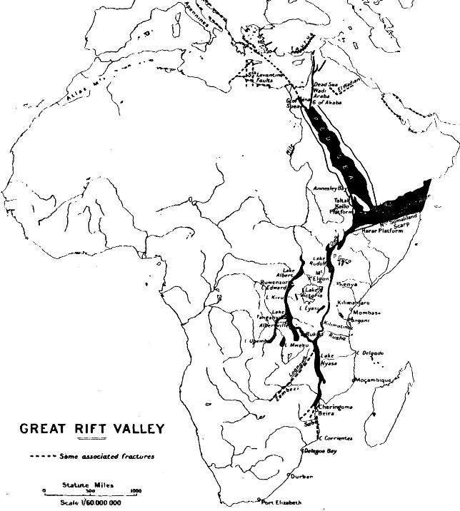 Map Of Great Rift Valley In Africa