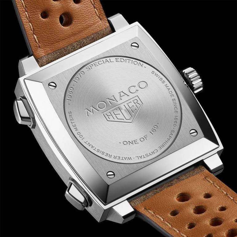 Tag Heuer Monaco 1969-1979 Limited Edition caseback with engravings