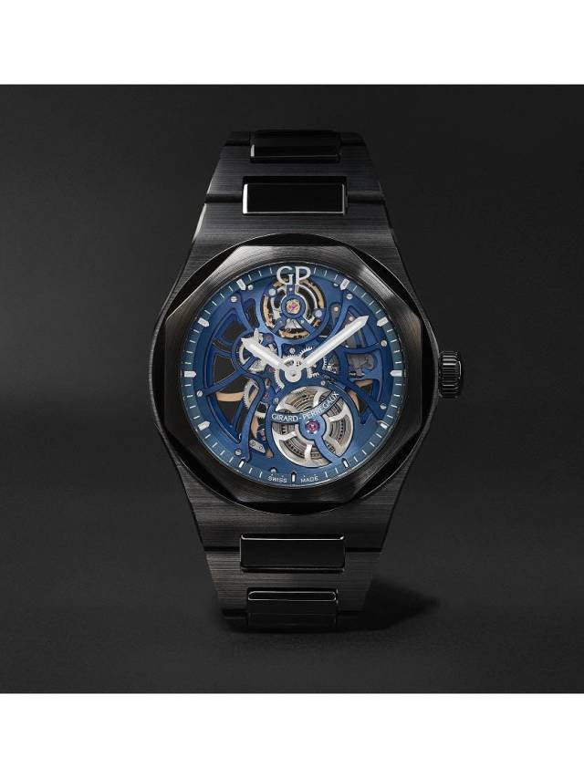 The Laureato Earth To Sky Automatic Skeleton 42mm-Ceramic watch is one of 17 Girard-Perregaux timepieces available on the Mr Porter website