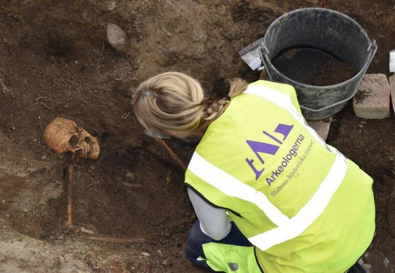 Viking grave in Sweden