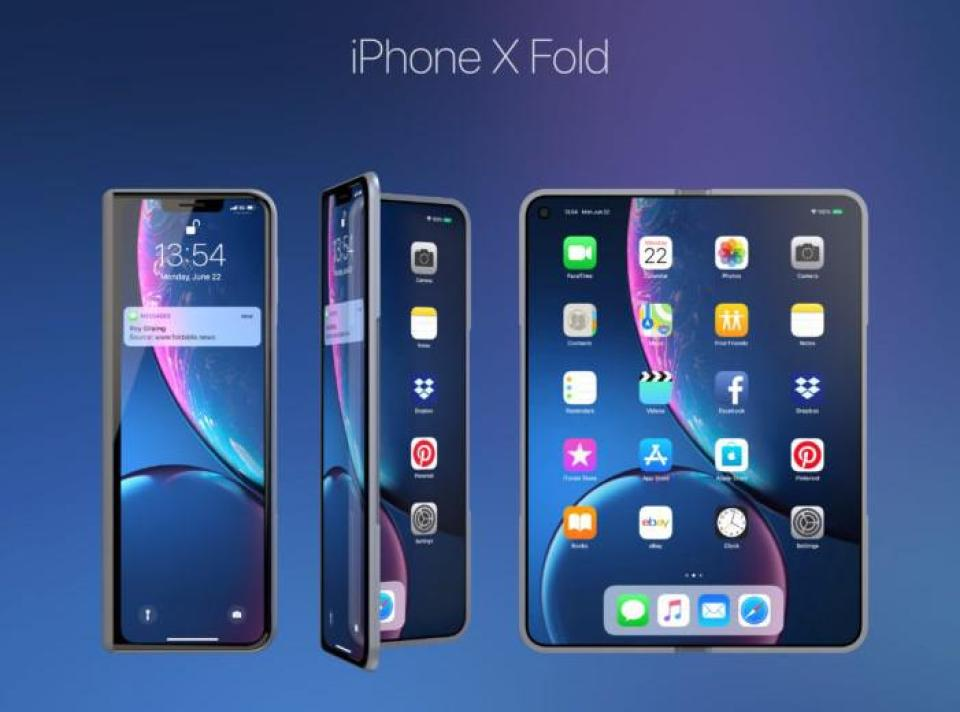 iPhone X Fold concept