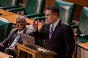 Senator Matthew Samuda speaking in Parliament.