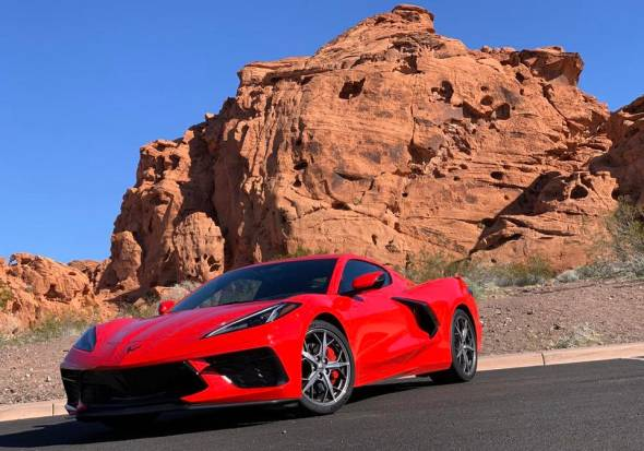 2020 Chevrolet Corvette Front Red