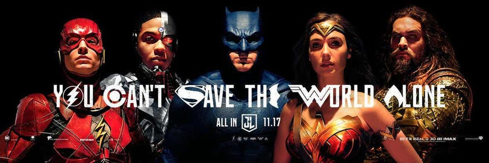 new justice league poster is really