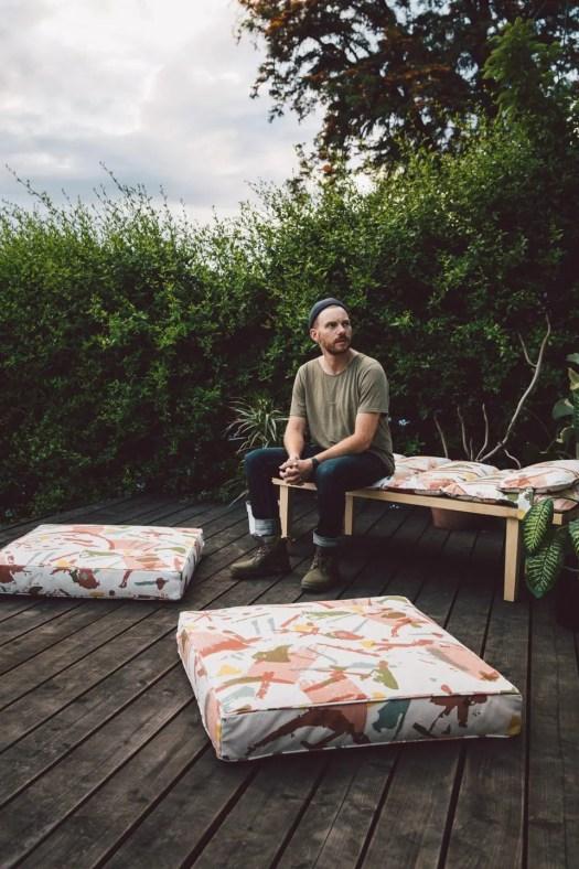 Outdoor: Floor-Pillows Artwork by Ethan Lipsitz
