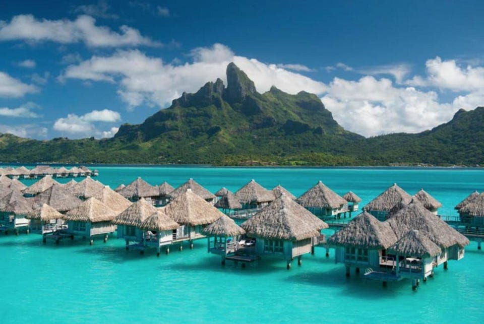World s Best and Beautiful Places to Visit     bankbeach Bora Bora  French Polynesia  Credit  St  Regis Bora Bora