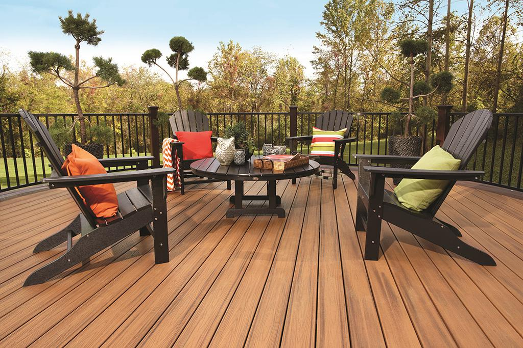 synthetic decks vs wood how trex