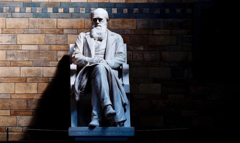 Estátua de Charles Darwin no Museu de História Natural de Londres. (Foto: CGP Grey/Flickr)