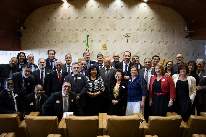 Membros do Conselho Apostólico Brasileiro no Supermo Tribunal Federal. (Foto: Guiame/Marcos Paulo Corrêa)