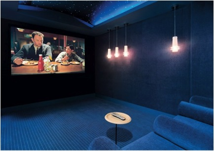 nighttime 10 Incredible Home Theaters