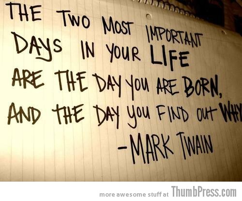 Life Born Why Mark Twain Inspiring Words: Your Required Dose of Motivation to Get You Through (25 Pics)