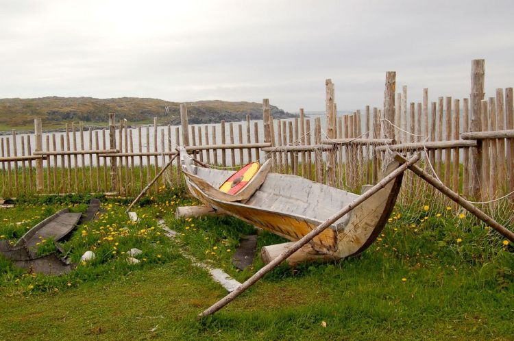 Reconstruction of Viking boat at the L'Anse aux Meadows settlement