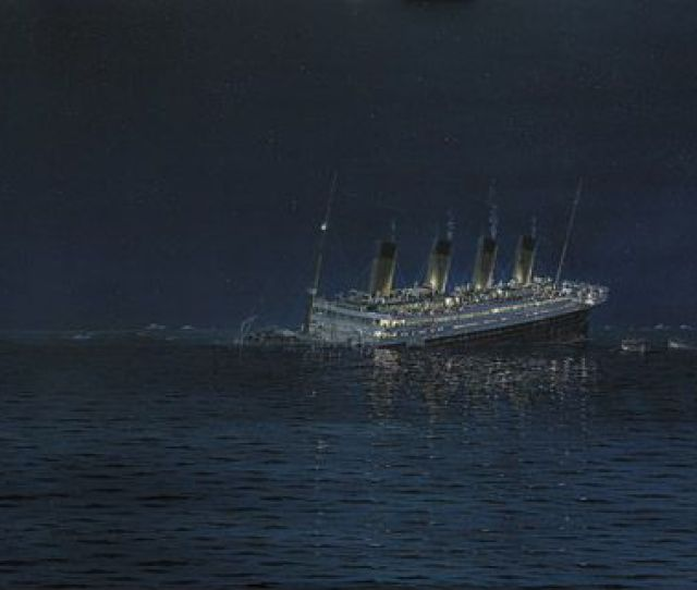 The Sinking Of The Worlds Most Famous Ship On April 15 1912 Generated Waves Of Titanic Mania Robert G Lloyd Marine Artist England 2011