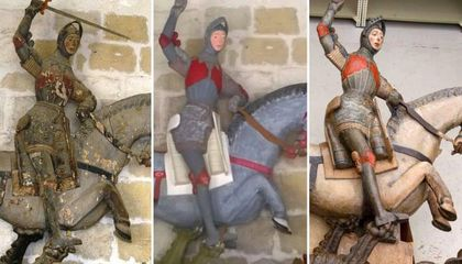 Statue of St. George Undergoes 'Unrestoration' to Salvage Botched Paint Job