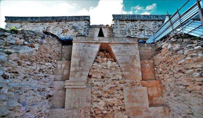 Researchers have recently uncovered a passageway that was part of the substructure of the House of the Governor at Uxmal.