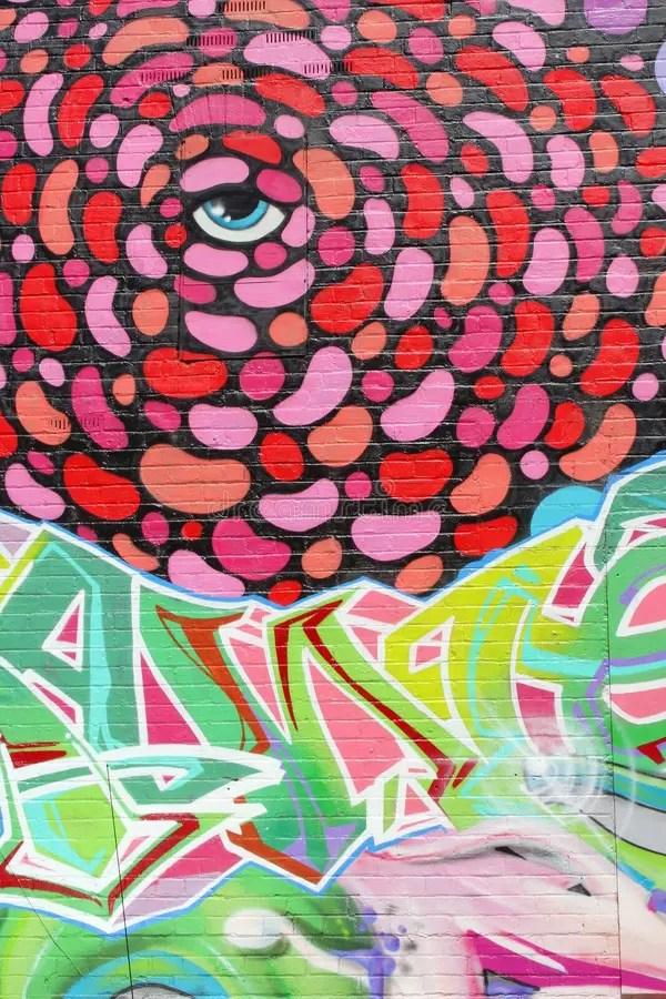Абстрактное искусство с голубым глазом, Аделаида улицы ...