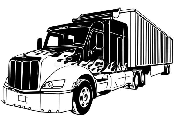 Красный грузовик иллюстрация вектора иллюстрации