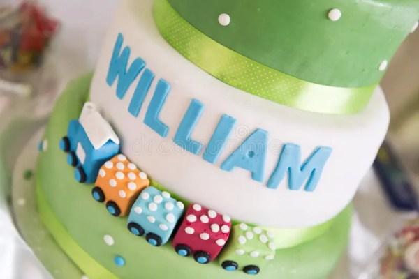 Торт поезда для 2-ого дня рождения Стоковое Фото ...