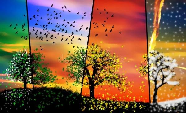 Осень Лето Зима Весна Картинки