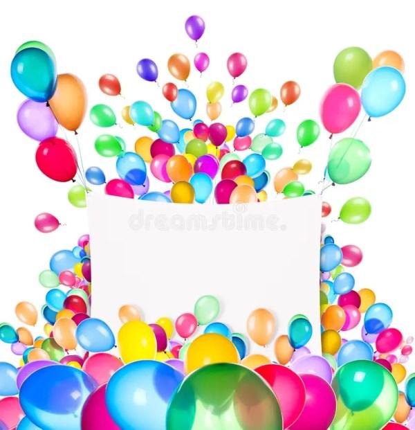 Знамена праздника с красочными воздушными шарами Стоковое ...