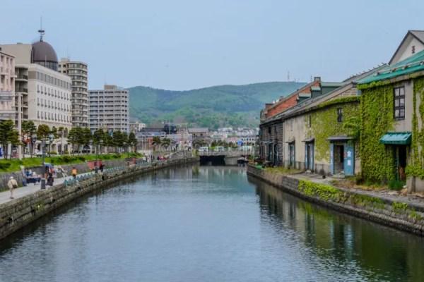 Канал Саппоро Япония Otaru редакционное фото. изображение ...