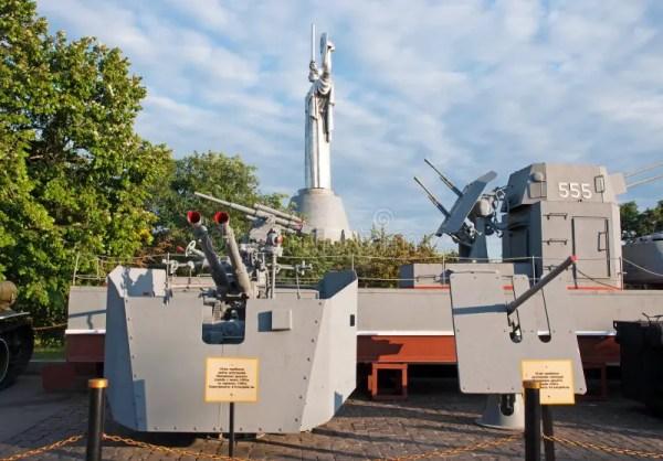 Киев, Armored шлюпка и образцы оружий воинских кораблей в ...