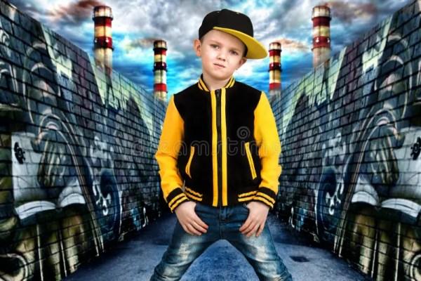 Мальчик в стиле Бедр-хмеля Мода ` S детей Крышка и куртка ...